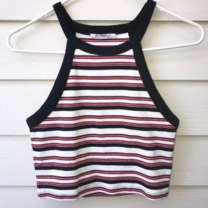 Zara StripedHalter Top